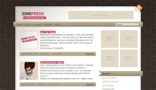 ZinePress: A WordPress Magazine Theme