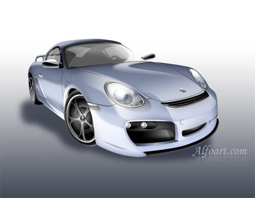 Porsche digital rendering photoshop tutorial