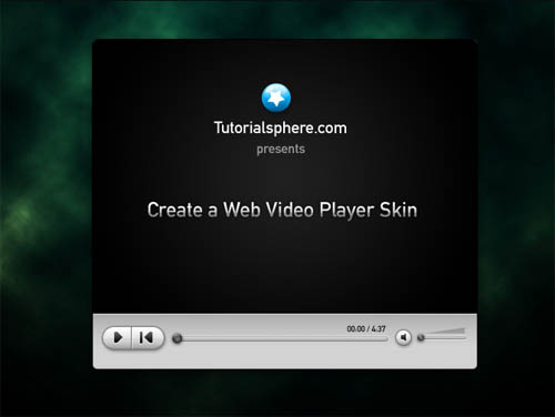 Web Video Player Skin