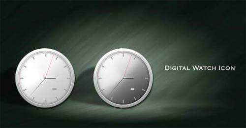 Making digital watch icon