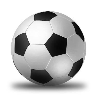 Soccer ball logo in Photoshop