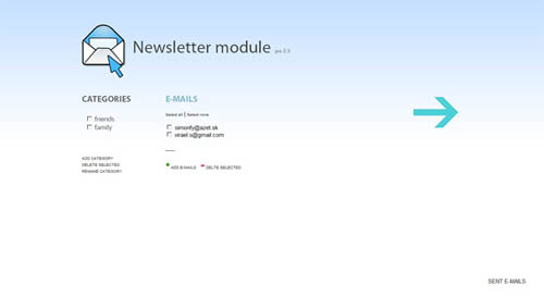 AJAX Newsletter Module