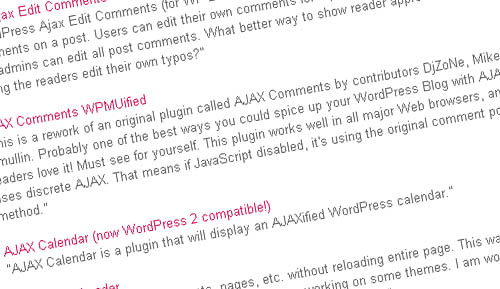 AJAX Your Blog - Plugins, Source Code, and Tutorials