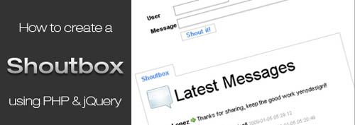 Create a shoutbox using PHP and AJAX (with jQuery)