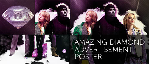 Create An Amazing Diamond Advertisement Poster in Photoshop
