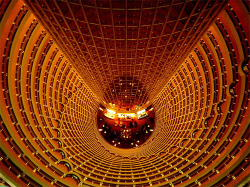 Down the Jin Mao Tower