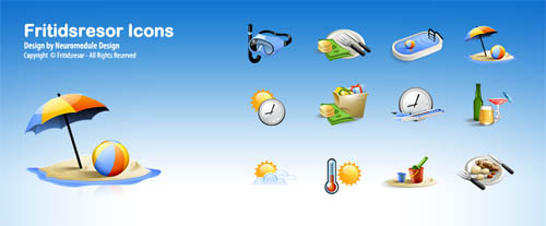 Fritidsresor Icons