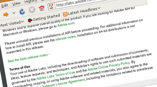Installing Adobe AIR on Linux