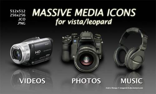 Massive Media Icons