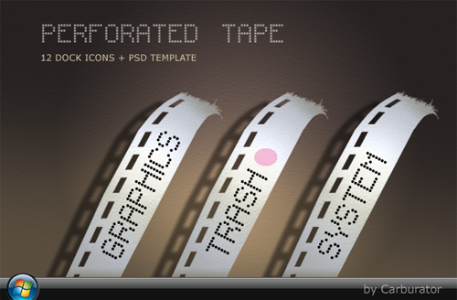 PerforatedTape Dock Icons