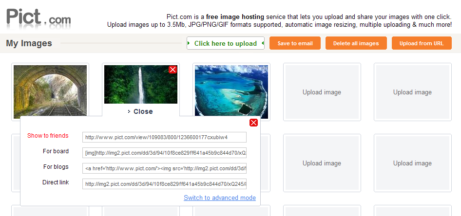 Upload And Share Multiple Images With Pict 8