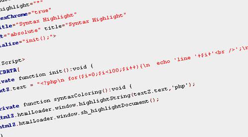 Syntax Highlighting in Flex for AIR