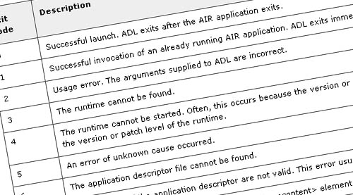 Using the AIR Debug Launcher (ADL)
