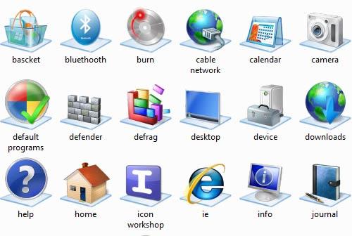 Windows 7 base icons