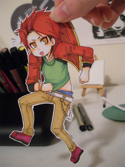 30+ Cute and Clever Anime Paper Child Art