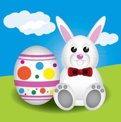 Create a Cute Easter Bunny Vector