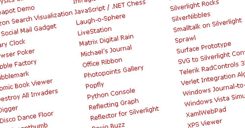 50 Silverlight Applications