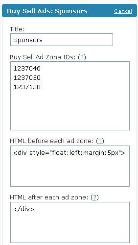 BuySellAds WordPress Plugin