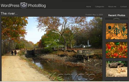 Photoblog Dark Portfolio WordPress Theme
