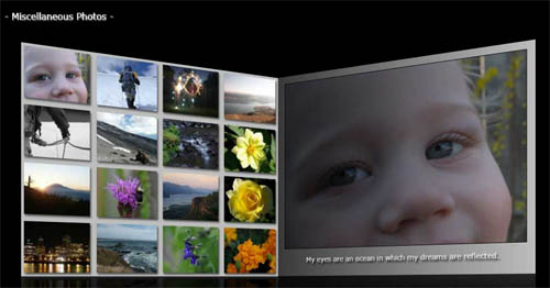 Silverlight 3 Photo Gallery Wall Application