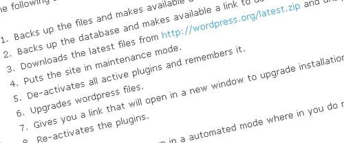 Wordpress Automatic upgrade