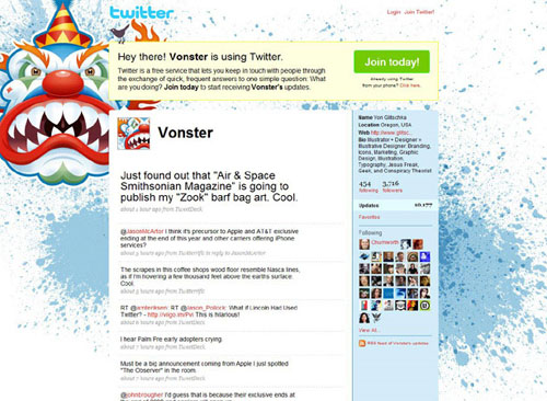 100 Creative Twitter Backgrounds Featuring Illustration