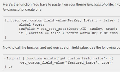 20+ Tutorials and Resources for Working with Custom Fields in WordPress