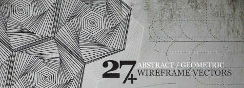 27+ Abstract Geometric Wireframe Vectors
