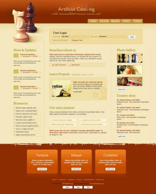 6 Free PSD/(X)HTML-Templates