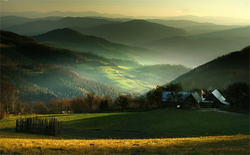 Dream about a green valley by Janusz Wanczyk