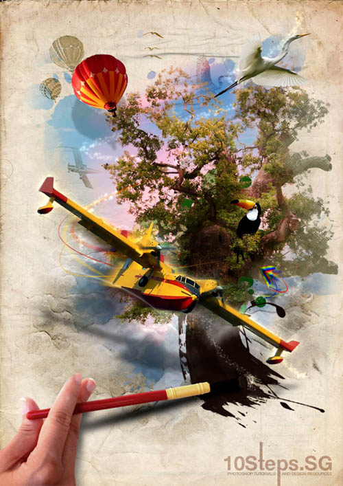 How to Create an Imaginative, Magical Painted Scene