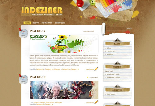 28 Best Quality Textured Backgrounds Free WordPress Themes