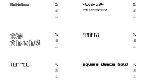 34 Free and Elegant TrueType Mini Pixel Fonts
