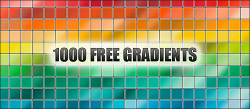 36 Color Gradient Sets For Photoshop and Resource Sites