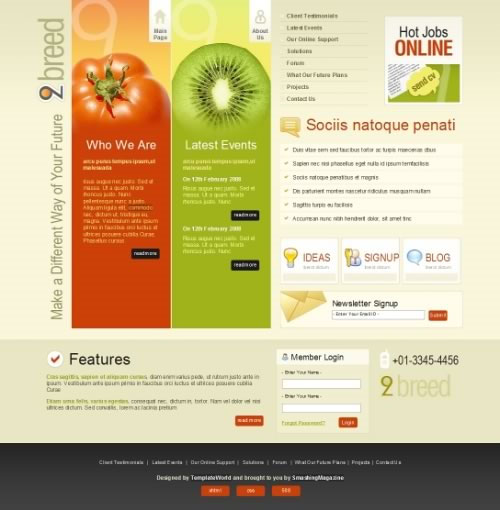 """50 Free High-Quality and """"New"""" (X)HTML/CSS Templates"""