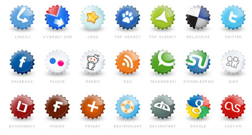 72 Sets of Free Social Bookmarking Icons