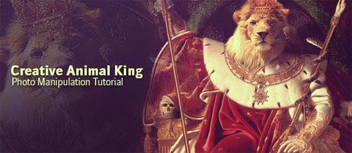 Creative Photoshop Animal King Photo Manipulation Tutorial
