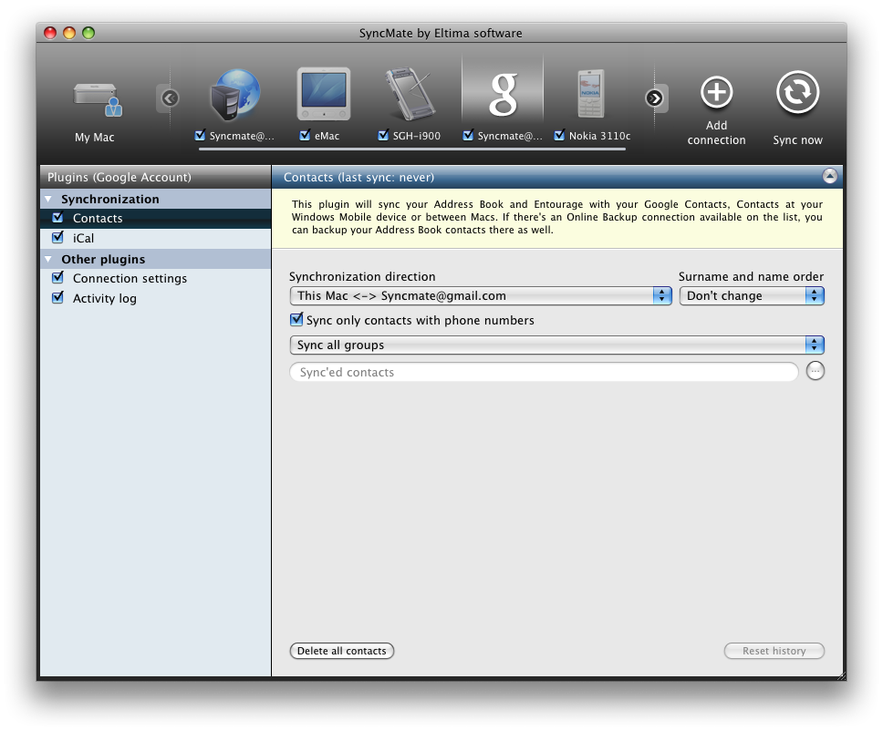 Your All-In-One Sync Tool For Macs, Windows Mobile, Nokia S40 And Online Accounts 13
