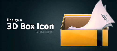 Design a 3D Box Icon in Photoshop