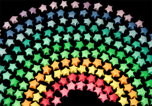 Origami Stars-Rainbow