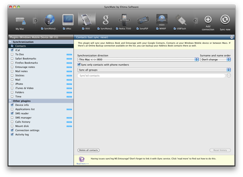 Now Its Possibile To Synchronize Many Devices Simultaneously With SyncMate 6