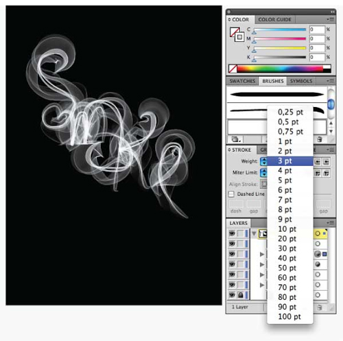 How-to-Create-Smoky-Brushes-and-Type-In-Illustrator-CS4