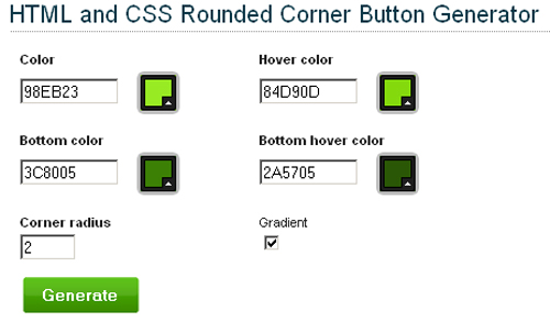 HTML-and-CSS-Rounded-Corner-Button-Generator