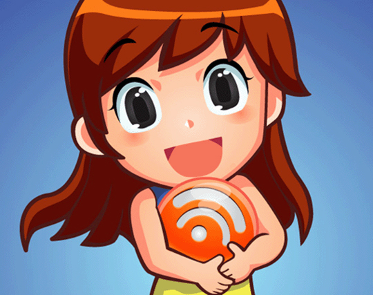 Cute-girl-holding-an-RSS-orb