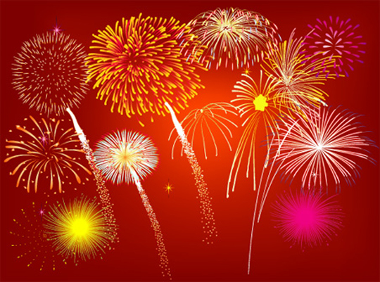Free-Vector-Fireworks