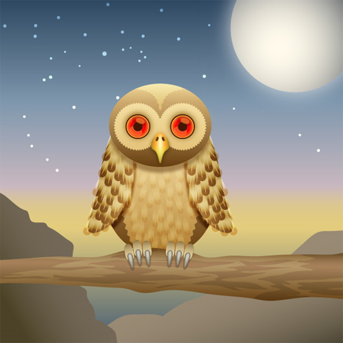 How-to-Create-a-Curious-Owl-in-Illustrator-CS4