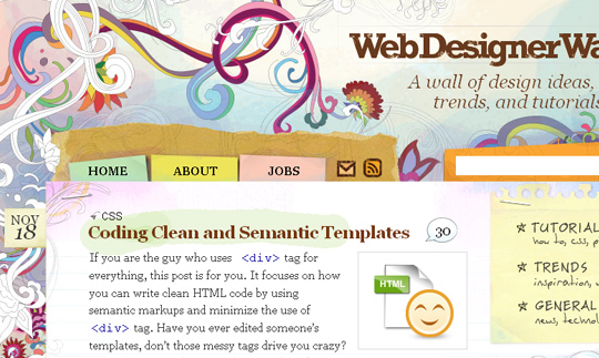 Paper Use in Webdesign