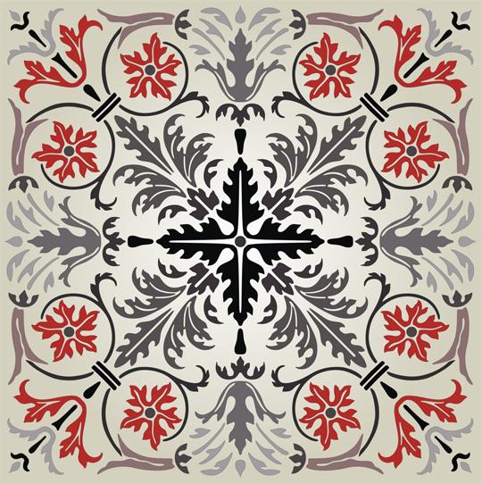 Square-vectorized-ornament