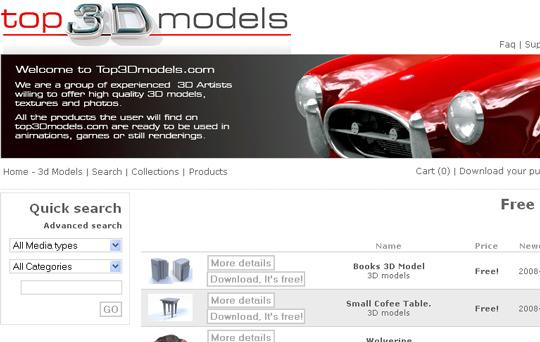 3D Model Websites