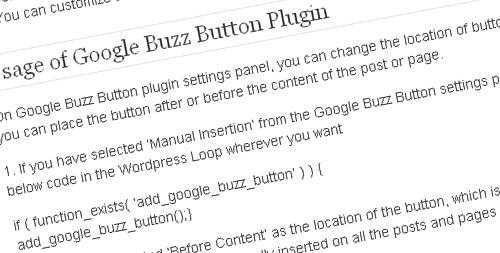 Google-Buzz-Button-Wordpress-Plugin